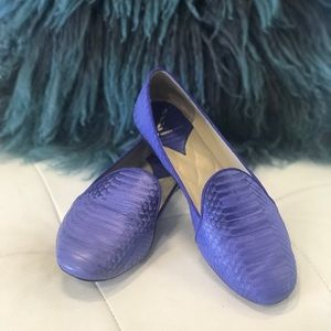 Brian Atwood flats 💙💜